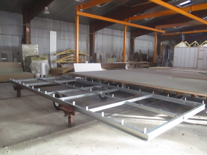 Fabrication du chassis pour mobil-home