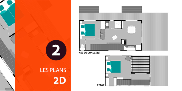 Plan 2D de mobil-homes